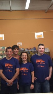 Xtra Effort team members Erin Chace, Patrick Egan, Rosemarie Amodeo, and Mark Rodman participate in TUGG's give back to the community volunteer day. We were assigned to the Donate Food Neighbors In Need center, helping pack and unpack incoming and outgoing food